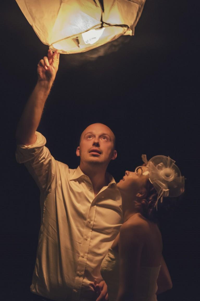 Para młoda puszcza lampion