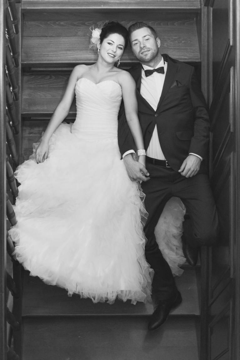 Portret pary młodej, schody inaczej