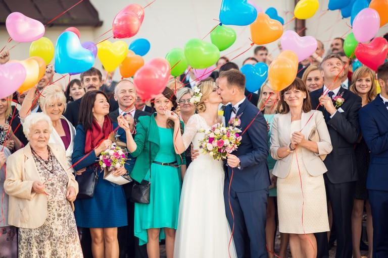 Zdjęcie grupowe, balony z helem