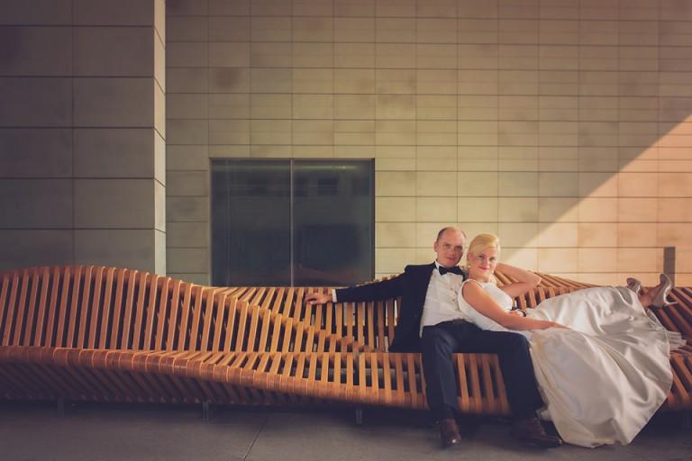 Ławka uiliuili, Plener ślubny z mnóstwem radości