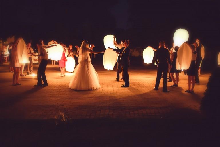 Lampiony na weselu