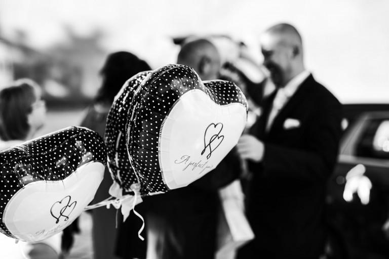 Balony serca na weselu