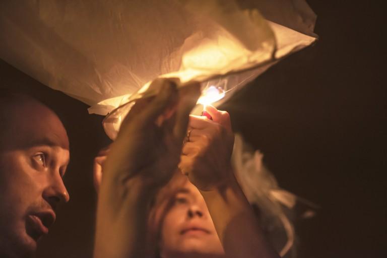 Podpalanie lampionu